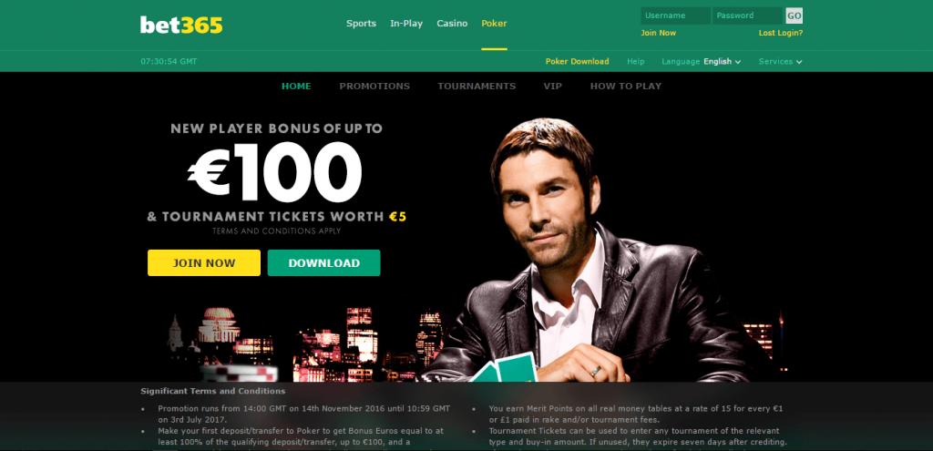 Раздел Покер на Bet365 - начални бонуси