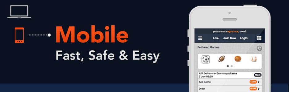 Мобилни залагания в Pinnacle - мобилна версия за Pinnacle