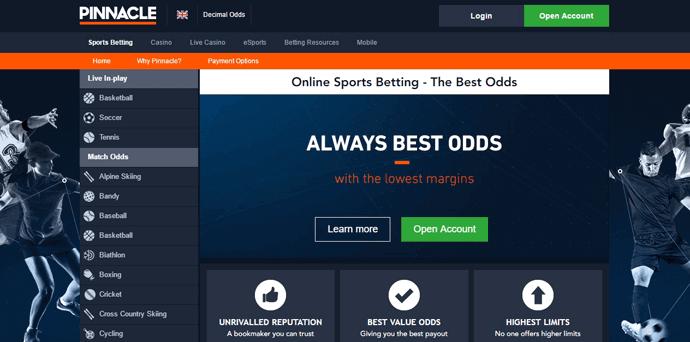 Спортни залози от Pinnacle - онлайн залагания